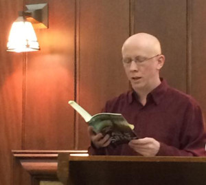 Reading at my hometown library in Hoquiam.